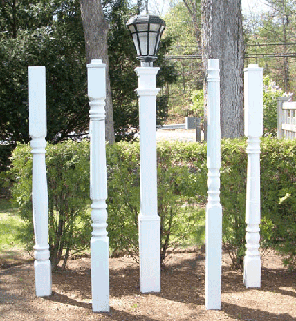 Vinyl light posts granite landscapes vinyl light posts mozeypictures Gallery